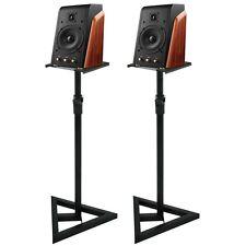 A Pair Adjustable Heavy Duty Telescoping Monitor DJ Speaker Stand Height Studio