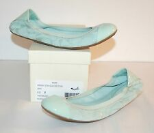 New $138 Coach Wenda 12 CM GLSS Sig C Suede Ballet Flats Mint 6.5 Patent Leather