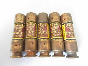 Lot De 5 Bussmann LPN-RK-3 2/10 Fusibles 3.2 Amp Testé