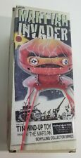 Schylling Martian Invader Tin Wind-Up Toy with original box.