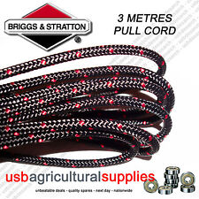 GENUINE BRIGGS 3.2MM X 3 MTR METRES PULL STARTER CORD ROPE 790965 ENGINE