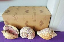 2011 Jim Shore Set Of 3 Mini Seashells Figurine 4026846 Enesco Heartwood Creek
