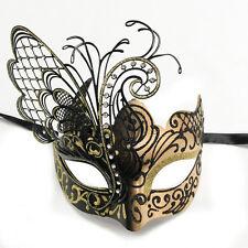 Black/Gold Small Dream Butterfly Mardi Gras Halloween Ball Prom Masquerade Mask