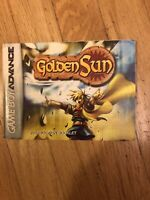 GOLDEN SUN NINTENDO GAMEBOY ADVANCE GBA INSTRUCTION MANUAL BOOK ONLY!