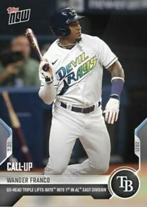 2021 Topps Now #589 Wander Franco Go-Ahead Triple 1st Place Rays 02