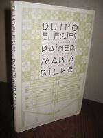 DUINO ELEGIES Rainer Maria Rilke POETRY Bilingual 1st Edition POEMS First Print