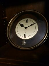 "Vintage Seiko Quartz Wall Clock Gold Trim Looks Works Great 12"" Round Japan"