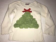 One Posh Kid Boutique Christmas Tree Long Sleeve Tshirt Size 4