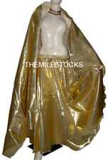 TMS GOLDEN Tissue Skirt Veil Belly Costume Tribal Dress ROBE JUPE Dance EHS