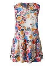 Simply Be Stunning Floral Print Drop Waist Frilled Summer Tunic Dress size UK 18