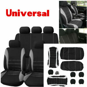 Auto Seat Cover Mesh Seat for Car w/Steering Wheel/Belt Pad/Head Rest Universal
