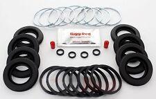 Pinza Freno Anteriore Sigillo Riparazione Kit + CAST sigilli per Subaru Impreza 2.0 WRX 4015
