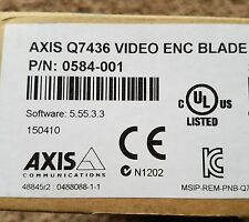 *NEW FACTORY SEALED* AXIS Q7436 Video Encoder Blade 0584-001 Never opened!