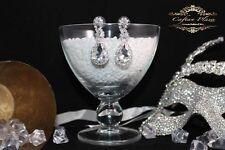 Mode-Ohrschmuck aus Acrylglas mit Strass