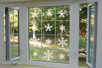CHRISTMAS SNOWFLAKES WALL WINDOW MIRROR DECAL STICKER TRANSFER XMAS DECORATIONS
