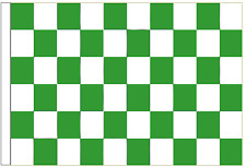 Green And White Check 3' x 2' Sleeved Flag
