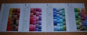 Stickgarn Sticktwist Color Spaltgarn Anchor 100 % Baumwolle Farbe 1218 -1275