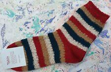 Tabio Japan Womens Socks Mixed Yarn Wool Silk Striped Low Crew UK 4-6 EU 37-39.5