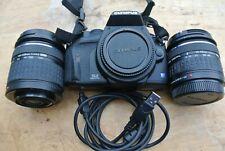 Olympus EVOLT E-410 10.0MP DSLR  - Black (Kit w/ 14-42mm & 40-150mm Lens)