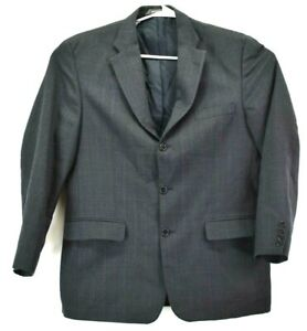 Haggar Mens 38L Suit Jacket Made In USA Business Career Casual Blazer Plaid