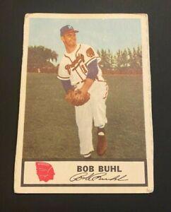 1955 Johnston Cookies #10 Bob Buhl BRAVES oddball RARE! NO RESERVE