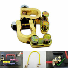 BATTERY TERMINAL CONNECTOR PAIR BRASS CLAMP POSITIVE AND NEGATIVE SS
