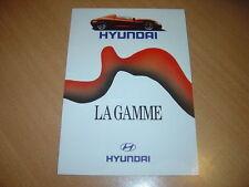 DEPLIANT gamme Hyundai du début des années 90