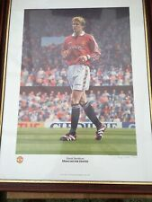 David Beckham Limited Edition Painting Manchester United Print Football Art