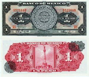 Mexico - Mexico 1 Peso 1967 Calendar Atrzeco Fds - UNC