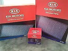 KIA FACTORY Sorento 2.4L (2011-2013) 3PC FILTER KIT AIR CABIN OIL FILTERS