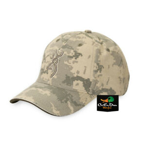 NEW BROWNING DIGITAL DESERT CAMO BALL CAP HAT BUCKMARK LOGO