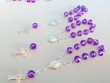 25 Pc Mini Rosary PURPLE Baptism Favors/ Recuerdo De Bautizo, Communion Favors