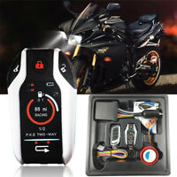 12V Anti-theft 2Way PKE Moped Scooter Alarm Immobilizer System Remote Start Kill