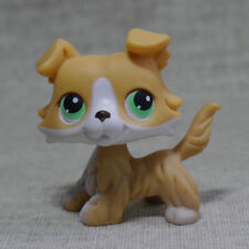 Littlest Pet Shop LPS Yellow  White Colly Collie Dog RARE