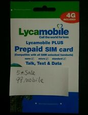 New Lycamobile Lyca Mobile Plus Trio 3 In 1 Sim Card Nano Micro Standard Size