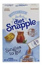 (36 Packets) Diet Snapple Sweet Tea Singles To Go- (6 Sealed Boxes)