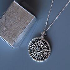 Plata esterlina Fleur De Lis Colgante Collar por lepos Jewellery
