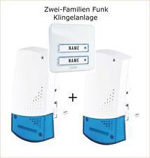 Funkklingel Komplett-Set  m-e Maag Electronic Zweifamilien Haus Bell 300719 weiß