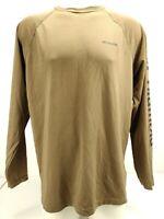 Columbia Phg Men's Long Sleeve Shirt Army Green Base Layer Omnishade Size Large