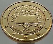 2 EURO 2007 Greece Griechenland Plated 24K Gold Gilded Vergoldet