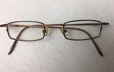 Vintage Narrow Ogi Eyeglass Frame Deep Green/copper Colors. For Reading Or Hi Rx