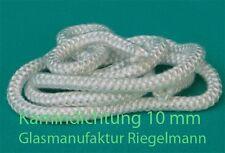 Kamindichtung, Ofendichtung Kordel 10 mm Durchmesser  rund 3 m lang weiß