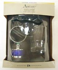 Ascot Tumbler & Holder Bath Accessories Chrome w/ Blue Glass