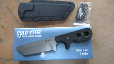 COLD STEEL MINI TAC TANTO POINT NECK KNIFE AUS8 WITH KYDEX SHEATH AND CHAIN
