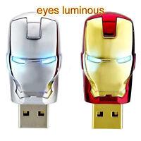 USB 2.0 Flash Memory Stick 4GB 8GB 16GB 32GB Iron man Pen Drive U Disk Top New