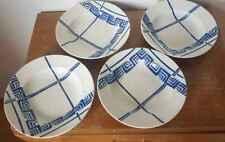4 assiettes creuses en faïence de Badonviller modèle Normandie