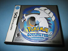 Pokemon Soulsilver Version (Nintendo DS) Lite DSi XL 3DS 2DS w/Case & Manual