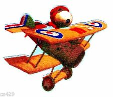 """3"""" Snoopy the red baron airplane plane fabric applique iron on character"""