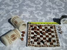 KGKATE CYLINDRICAL TRAVELING CHESS SET:NEW:HANDMADE:OLDER STYLE