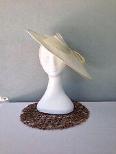 Ladies Ivory Sinamay Headband Fascinator Wedding Races